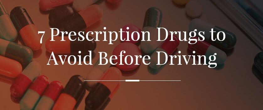 What prescription drugs affect driving?